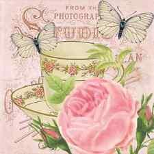 20 las servilletas de papel matiné Decoración Mariposa Rosa Decoupage Shabby Chic Vintage
