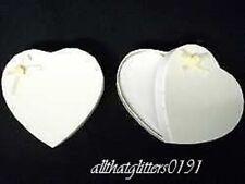 Avorio a forma di cuore Rinforzato Biglietto Regalo Scatola 8.5x8x2.5 cm