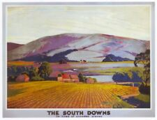 1930's Southern Railway South Downs A3 Cartel Reimpresión