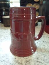 Longaberger Pottery Woven Tradition Paprika Beer Stein Mug Cup