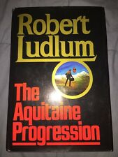 SIGNED The Aquitaine Progression, Robert Ludlum, HC 1984 1st Ed 1st Print