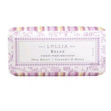 Lollia Relax Bar Soap Finest Perfumed Shea Butter Lavender & Honey