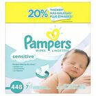 Wipes Pampers 448 Count 7Box Sensitive Baby Diapers Brand Infant Clean Newborn