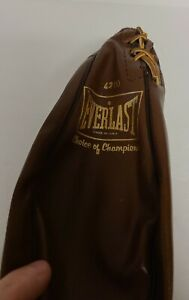 Vintage 80's Everlast Model 4210 USA Leather Boxing Punching Speed Bag NEW NOS