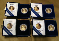 (12) American Eagle 1oz One Ounce Gold Bullion Proof Coins w/ Display Boxes CoA