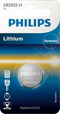 2x Philips CR2025 3V Lithium Battery Button Coin Cell DL2025 Car Key Fobs Watch