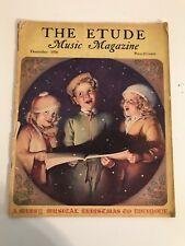 Vintage The Etude Music Magazine Mayl December 1938 Carl Maria Von Weber