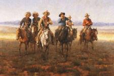 Singing Cowboys by Andy Thomas Western Print 17x12