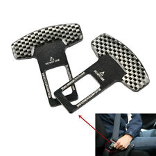 2x Car Seat Belt Carbon Fiber Plug Buckle Stop Alarm Canceller Clip Accessories