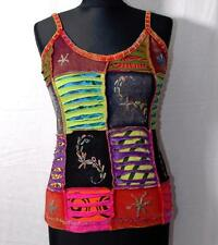 FAIR TRADE HIPPY BOHO ETHNIC FESTIVAL SUMMER STRAPPY COTTON VEST TOP M/L