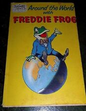 Vintage Jack & Jill Book, Around the World with Freddie Frog - 1961 1st Edn DJ