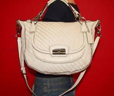 COACH KRISTIN Woven Ivory Medium Leather Hobo Shoulder Crossbody Bag Purse 19312