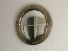 Vintage Retro Brass Porthole Convex Mirror Wall mounted