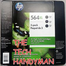 3-PACK HP GENUINE 564XL Black Ink (RETAIL BOX) PHOTOSMART 6510 6515 6520 6525