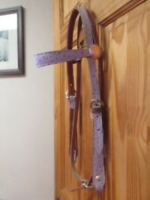 Pink Ostrich western bridle made by Katie Made Tack Usa rodeo barrel racing