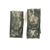 2 USGI ACU Double Mag Pouch Army MOLLE II Digital Camo 2 Magazine