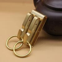 Brass Keychains Belt clip Hook Key Ring Holder Key Hook Clip Car EDC Keychains