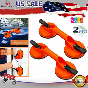 2 Pk Suction Cup Vacuum Lifter Heavy Duty Handle for Glass Tile Granite Mirror