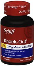 Schiff KnockOut w. Melatonin 3mg,Theanine-Valerian Sleep Aid Supplement,50ct