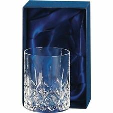 Hand Cut Crystal Whisky Glass in Silk Lined Presentation Box