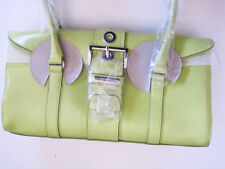 9c12528d772a Rina Rich Leatherette Lime Green multiple pocket handbag
