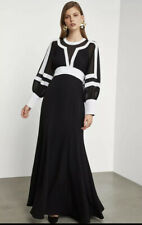 NWT BCBG MAXAZRIA Colorblock Bishop Dress Color Black / White Size 2