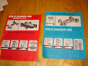 VINTAGE 1960'S 1/24 scale  MPC Dyno Charger FERRARI DEALERS FLYERS PRICE LIST