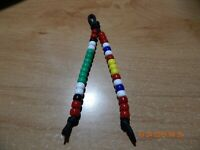 KUWAIT LIBERATION AND NATIONAL DEFENSE MEDAL BEADED KEY CHAIN MILITARY PARACORD