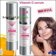 2 x 51ml VITAMIN C SERUM L-Ascorbic Acid + Hyaluronic Acid ANTI-AGING SKIN CARE