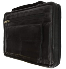 """Distressed Large Leather Look Bible Book Cover Protective Case X-Large 8"""" X 11"""""""