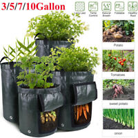 1/3X Potato Grow Planter Container Bags Pouch Root Plant Growing Pot Side Window