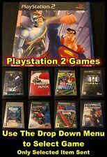 Playstation 2 Spiele (ausgewählte Artikel) mit Taschen & Working Scheiben-verschiedene Titel