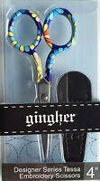 "Limited Edition Gingher  ""Tessa""  4 inch Designer Series Scissors"