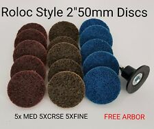 """Roloc Style 2"""" 50mm Fine Med Crse Gasket Buffing Disc Surface Conditioning Strip"""