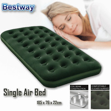 Bestway Comfort Quest Inflatable Camping Flocked Air Bed Mattress Single Green