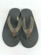 Chaco Brown Flip Flops Sandals Thongs Slip-On Shoes Men's Size: 11