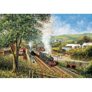 JHG Summer Saturday steam train 1000 piece jigsaw puzzle