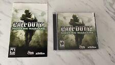 Call of Duty 4: Modern Warfare (PC, 2007) COD No Box