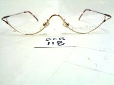 e4fb0f6d2e New NINE WEST Eyeglasses 55 P4D Brass Tortoise Half Moon (DER-118)