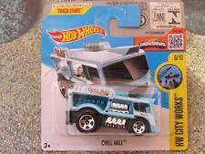 Hot Wheels 2016 #171/250 CHILL FILATURE bleu HW City Fonctionne étui D