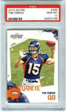"TIM TEBOW~2010 SCORE ""PSA-10 GEM-MT"" GRADED NFL FOOTBALL ROOKIE RC CARD #396"