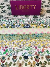 "Liberty Tana Lawn Scrap Pack 'Green and Yellows' 8 Pieces Of  6''X 9""💝"