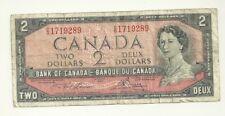 1954 Canada 2 dollar Bill O/G Lawson/Bouey BC-38 D