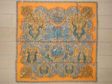 AUTH HERMES  ' La Charmante aux Animaux '  Cashmere Scarf(90cm x 90cm)