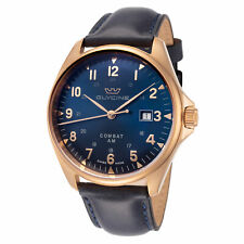 Glycine Men's GL0285 Combat 6 Classic Bronze 43mm Blue Dial Leather Watch