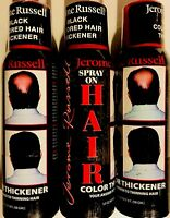 JEROME RUSSELL  SPRAY ON  HAIR COLOR THICKENER 3.5 OZ BLACK  3 PC