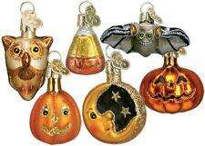 Old World Christmas Mini Halloween Assortment 6 Piece Glass Ornament Set 26027