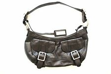 DKNY SMALL BLACK LEATHER SHOULDER BAG - SUPER CUTE!