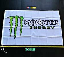 New listing Monster Energy Flag Free First Class Ship Green Horizontal White Claw New Banner