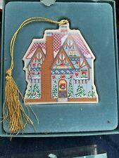 Vintage Lenox Victorian Home Collection Durham Square Christmas Ornament 1994